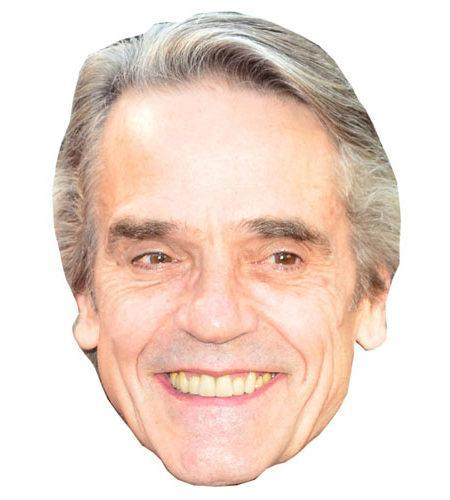 A Cardboard Celebrity Mask of Jeremy Irons