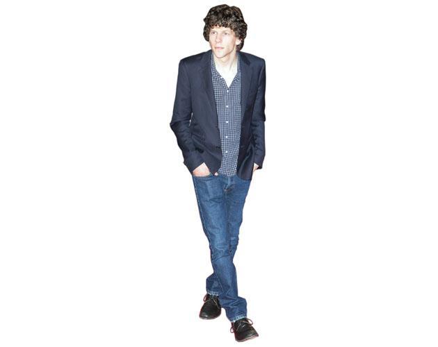 A Lifesize Cardboard Cutout of Jesse Eisenberg wearing jeans