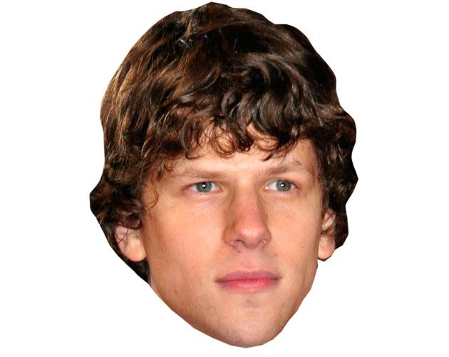 A Cardboard Celebrity Mask of Jesse Eisenberg