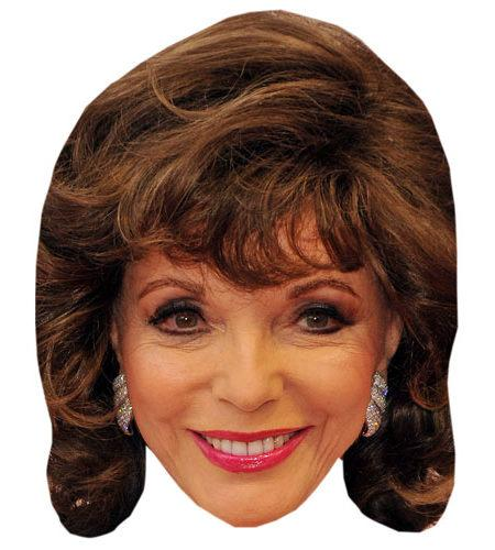 A Cardboard Celebrity Mask of Joan Collins