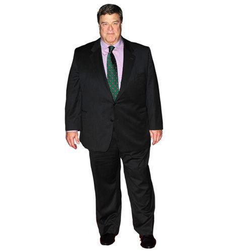 A Lifesize Cardboard Cutout of John Goodman wearing a suit