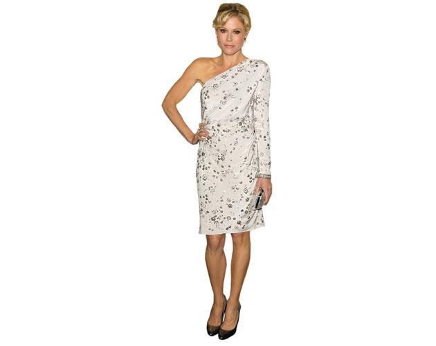 A Lifesize Cardboard Cutout of Julie Bowen wearing a dress