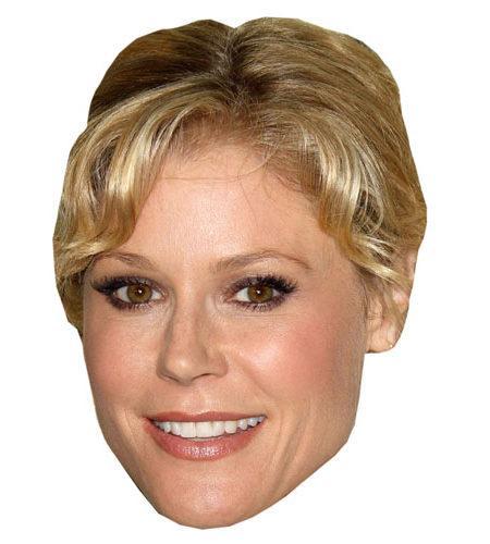 A Cardboard Celebrity Mask of Julie Bowen