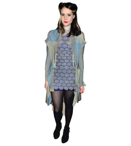 A Lifesize Cardboard Cutout of Kate Nash wearing a scarf