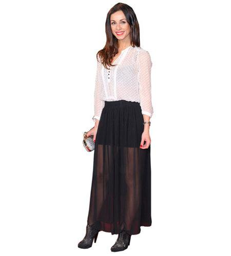 A Lifesize Cardboard Cutout of Lindsay Armaou wearing a skirt