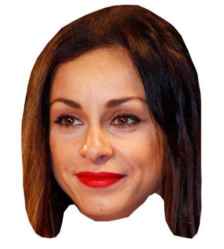 A Cardboard Celebrity Mask of Lindsay Armaou