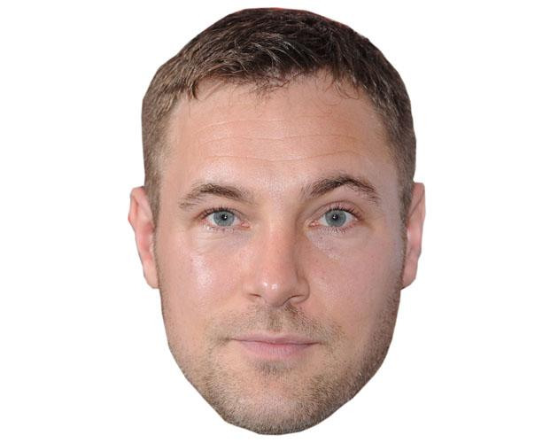 Marc Bayliss Cardboard Celebrity Mask
