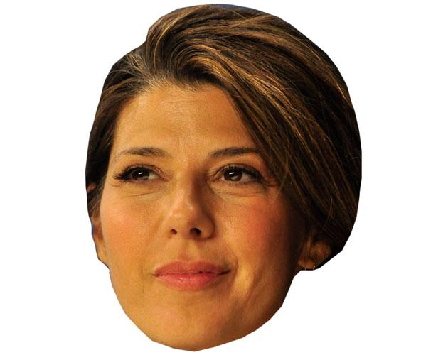 A Cardboard Celebrity Mask of Marisa Tomei