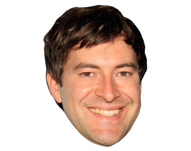 A Cardboard Celebrity Mask of Mark Duplass