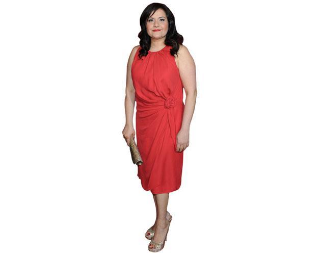 A Lifesize Cardboard Cutout of Nina Wadia wearing a dress