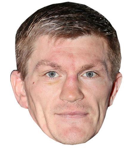 A Cardboard Celebrity Mask of Ricky Hatton