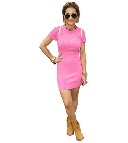 Rita Ora Pink Dress Cardboard Cutout
