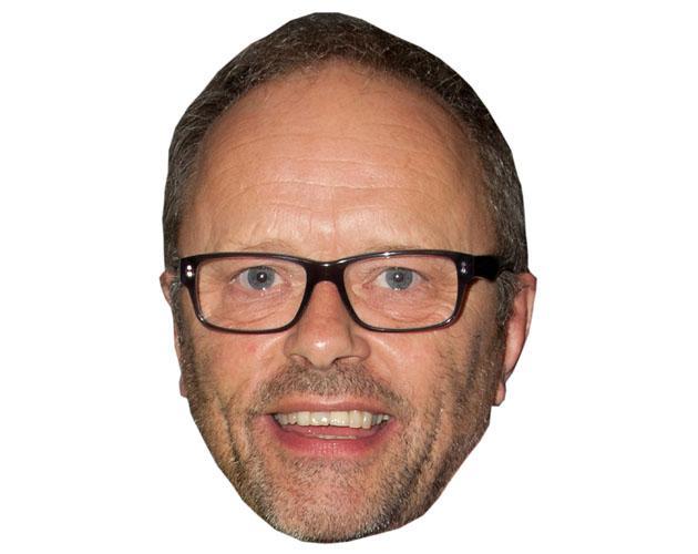 A Cardboard Celebrity Mask of Robert Llewellyn