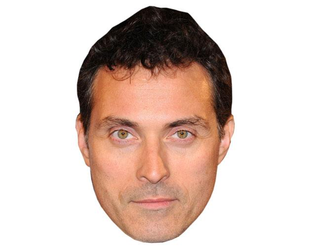 A Cardboard Celebrity Mask of Rufus Sewell