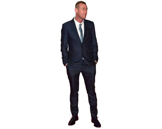 A Lifesize Cardboard Cutout of Christopher Maloney wearing a suit