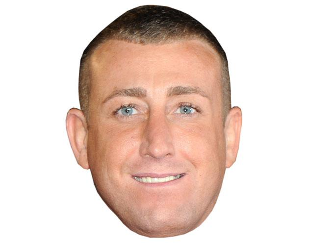 A Cardboard Celebrity Mask of Christopher Maloney
