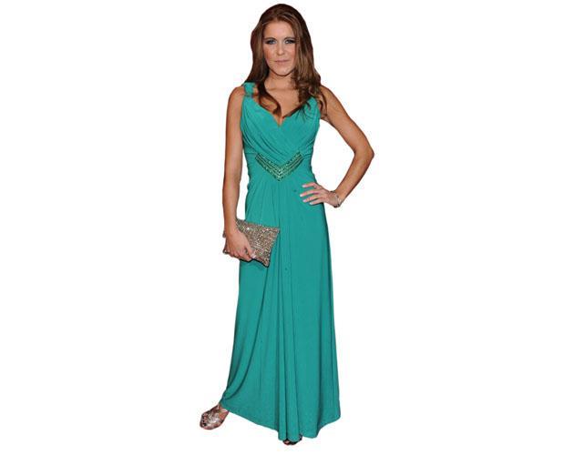 Gemma Oaten Green Dress Cardboard Cutout