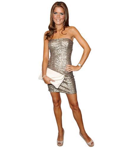 Gemma Oaten Short Dress Cardboard Cutout.