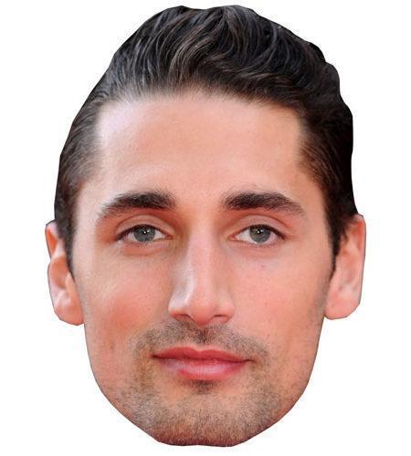 A Cardboard Celebrity Mask of Hugo Taylor