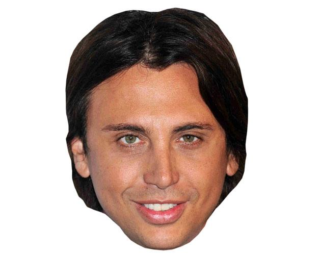 A Cardboard Celebrity Mask of Jonathan Cheban