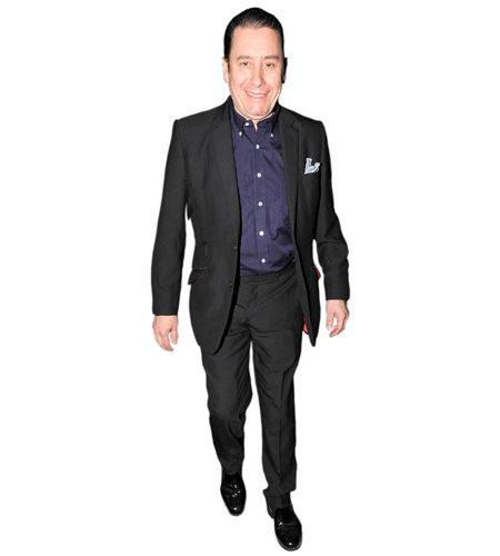 A Lifesize Cardboard Cutout of Jools Holland wearing a suit