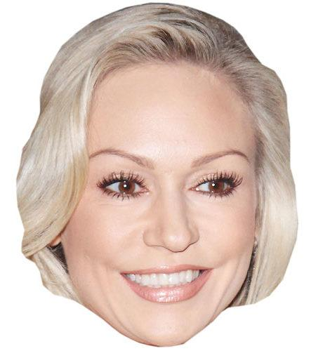 A Cardboard Celebrity Mask of Kristina Rihanoff