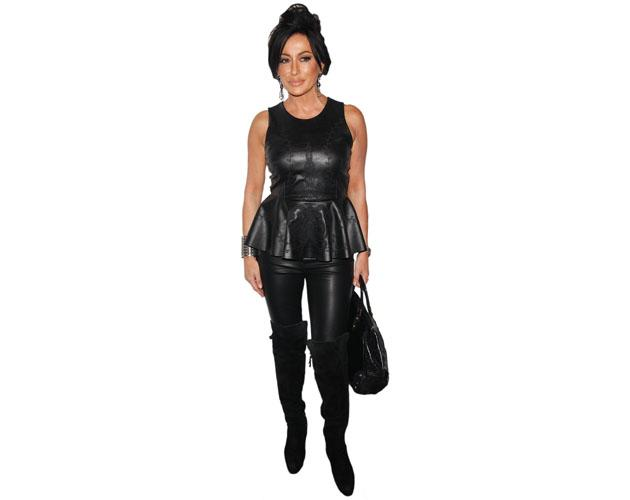 A Lifesize Cardboard Cutout of Nancy Dell'olio wearing leather