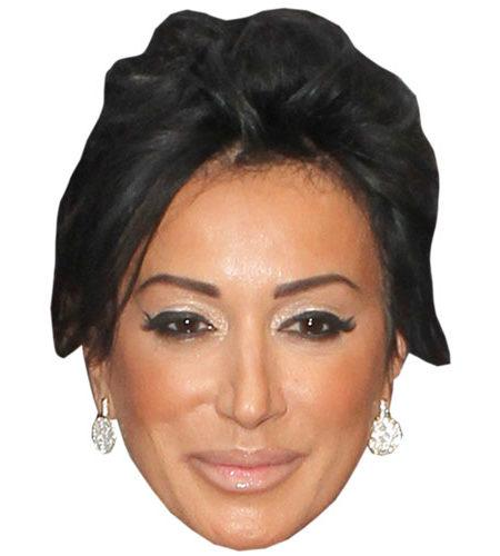 A Cardboard Celebrity Mask of Nancy Dell'olio