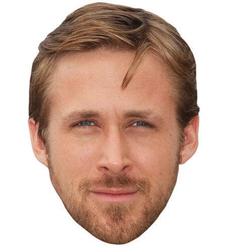 A Cardboard Celebrity Mask of Ryan Gosling