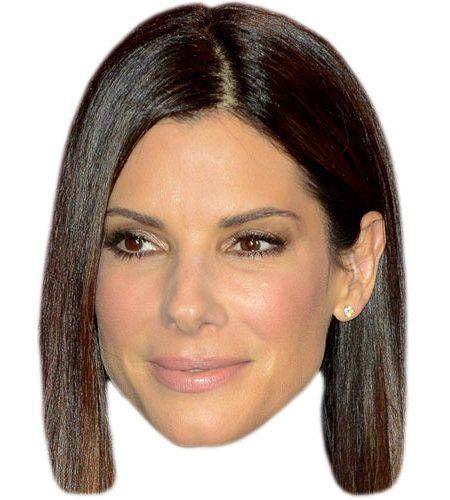 A Cardboard Celebrity Mask of Sandra Bullock