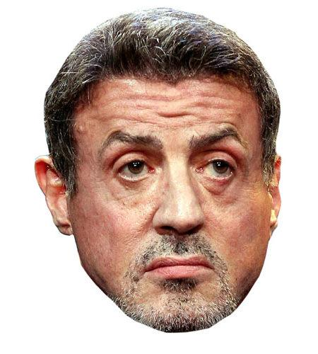 A Cardboard Celebrity Mask of Sylvester Stallone