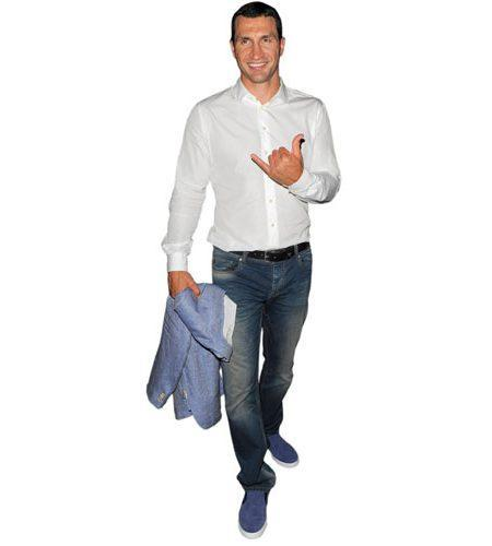 A Lifesize Cardboard Cutout of Wladimir Klitschko wearing jeans