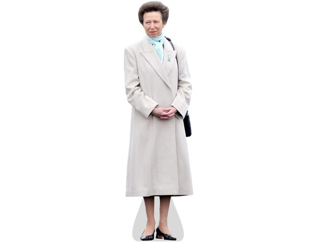 cardboard cutout of Princess Anne