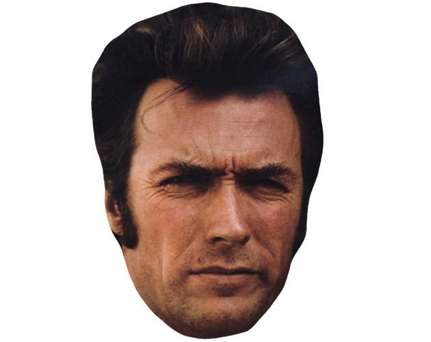 A Cardboard Celebrity Mask of Clint Eastwood