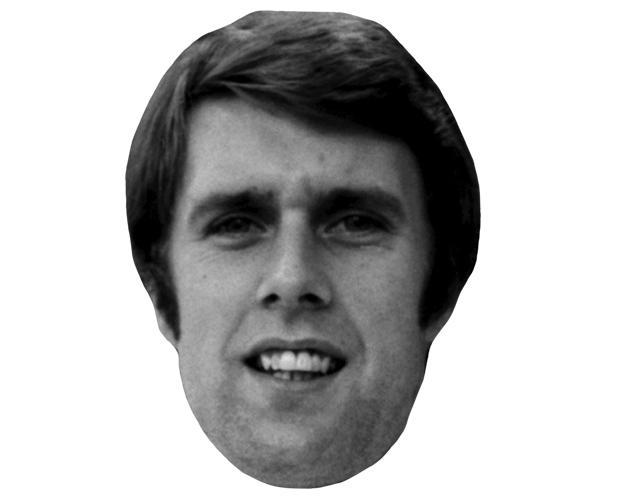 A Cardboard Celebrity Mask of Geoff Hurst