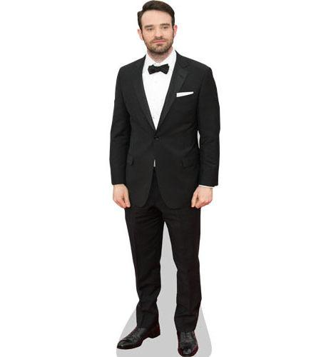 A Lifesize Cardboard Cutout of Charlie Cox wearing a dinner jacket