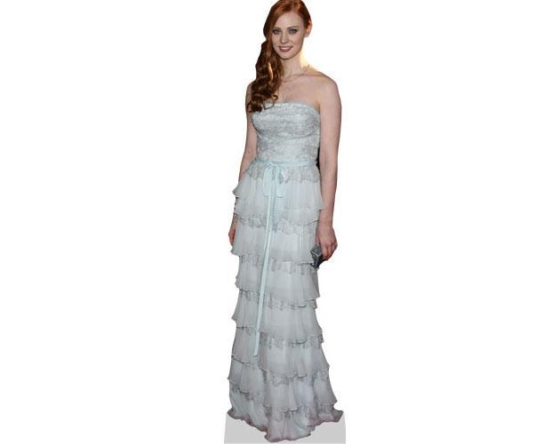 Ann Woll Cardboard Cutout wearing a gown