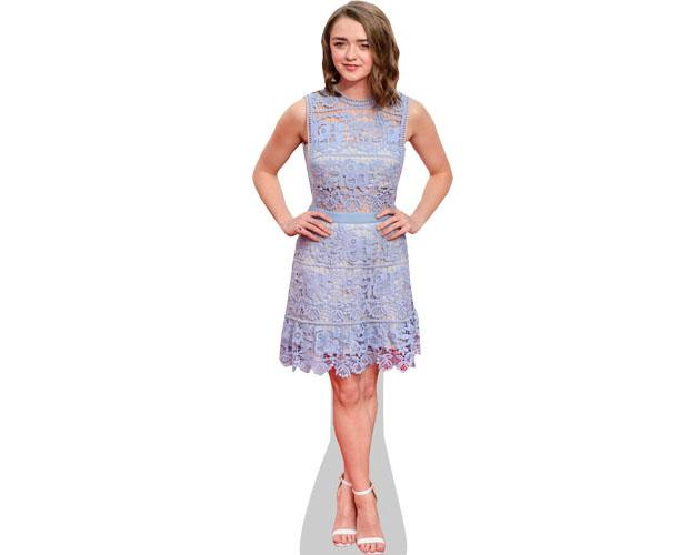 A Lifesize Cardboard Cutout of Maisie Williams wearing a dress