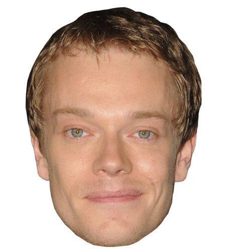 A Cardboard Celebrity Mask of Alfie Allen