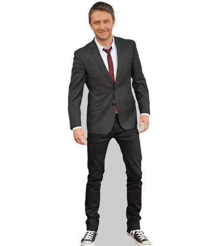 A Lifesize Cardboard Cutout of Chris Hardwick wearing a suit