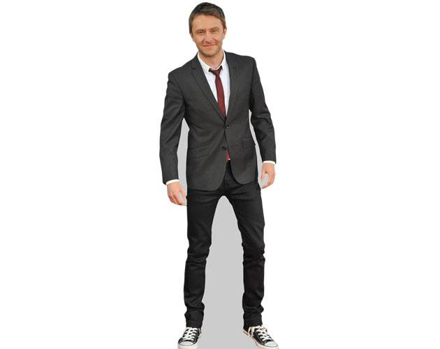 A Lifesize Cardboard Cutout of Chris Hardwick wearing a suit