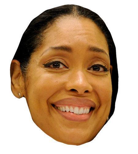 A Cardboard Celebrity Mask of Gina Torres