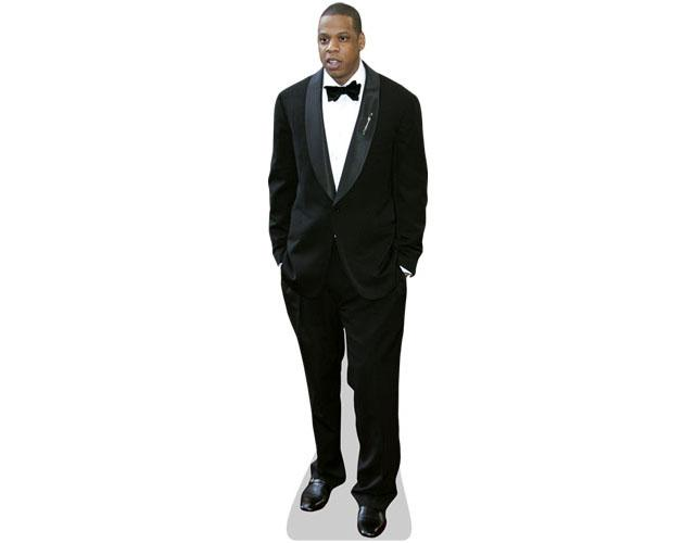 A Lifesize Cardboard Cutout of Jay Z wearing a suit