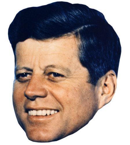 A Cardboard Celebrity Mask of JFK