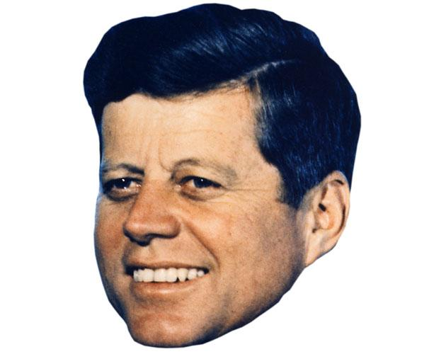 A Cardboard Celebrity Mask of JFK