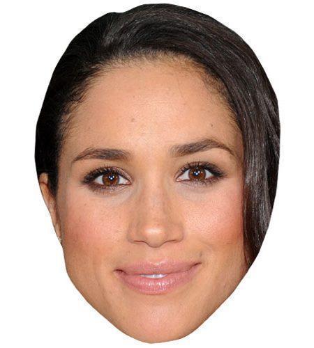 A Cardboard Celebrity Mask of Meghan Markle