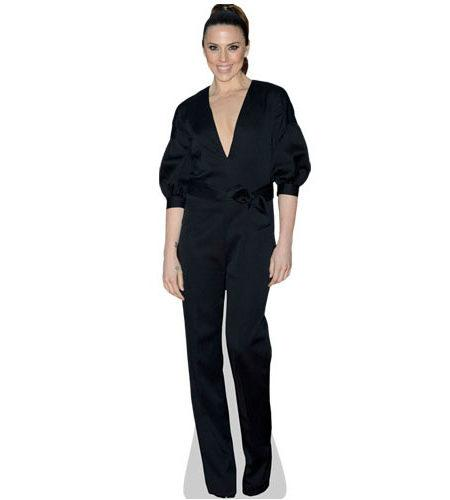 A Lifesize Cardboard Cutout of Melanie C wearing a black trousers