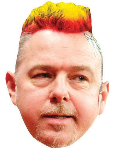 A Cardboard Celebrity Mask of Peter Wright