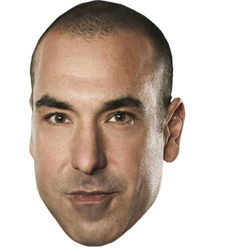 A Cardboard Celebrity Mask of Rick Hoffman
