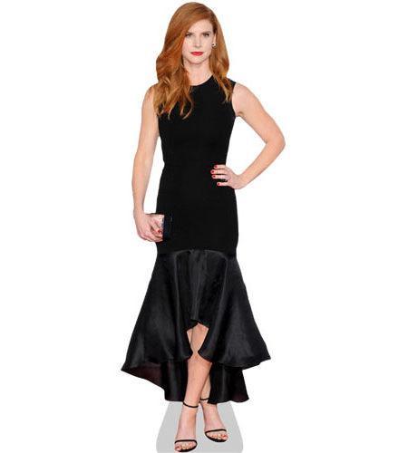 A Lifesize Cardboard Cutout of Sarah Rafferty wearing a black dress